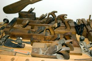 Antique Woodworking Tools, January 2, 2008, taken with Nikon D70s handheld using SB-800 flash and 17-35mm FX lens