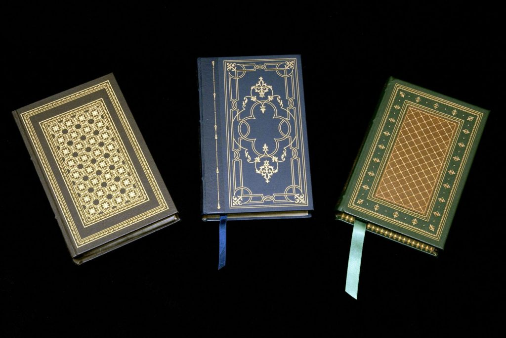 Three Styles of Franklin Library Books