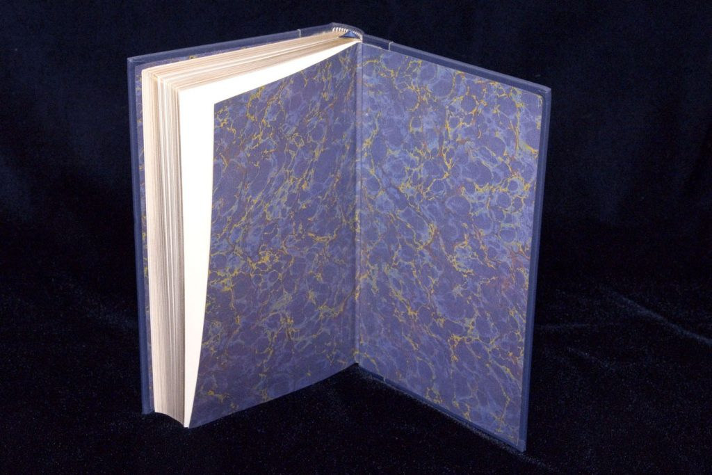 Franklin Library Book Marbled End Paper