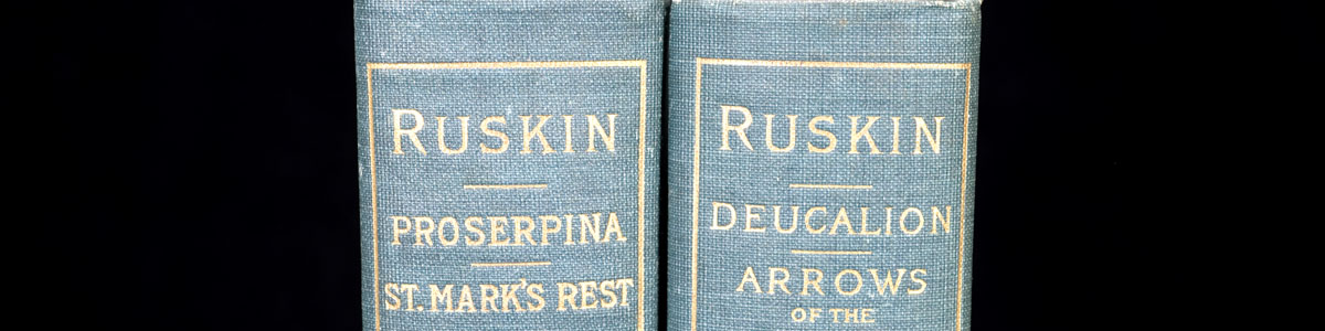 John Ruskin Books - Spine Titles (header image)