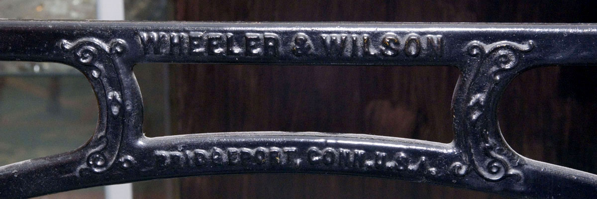 Wheeler and Wilson treadle logo header